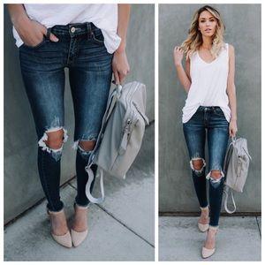 Denim - New Busted Knee Skinny Jeans